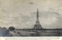 PARIS HISTOIRE DE L'AVIATION Le 18 Octobre 1909 Le Comte De Lambert Sur La Tour Eiffel 2 Recto Verso - Tour Eiffel