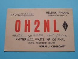OH2NL Helsinki FINLAND Börje J. Cederqvist > WOZEP > USA Colorado 1949 ( See / Voir Photo ) - Radio Amatoriale