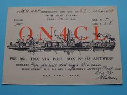 ON4CL Hersleven ANTWERP > WOZEP > USA Colorado 1948 ( See / Voir Photo ) - Radio Amatoriale