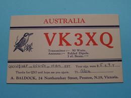 VK3XQ Australia A. Baldock Victoria > WOZEP > USA Colorado 1950 ( See / Voir Photo ) - Radio Amatoriale