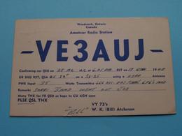 VE3AUJ ( PAA Clipper ) Woodstock Ontario Canada Atcheson > WOZEP > USA Colorado 1948 ( See / Voir Photo ) - Radio Amatoriale