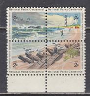 USA 1972 - Centenary Of National Parks, Set Of 4 Stamps, MNH** - Nuevos