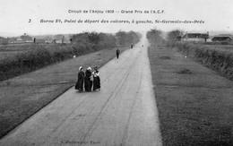 Saint-Germain-des-Prés Animée Circuit De L'Anjou 1909 Grand Prix De L'Automobile Club De France - Other Municipalities