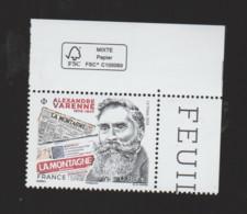 FRANCE / 2019 / Y&T N° 5348 ** : Alexandre Varenne X 1 CdF FSC - Neufs