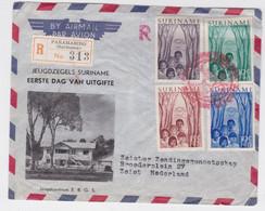 Surinam Suriname Paramaribo Registered First Day Cover To Zeist - Surinam