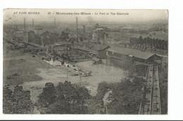 MONTCEAU LES MINES LE PORT La Vue Générale - Usine - Montceau Les Mines