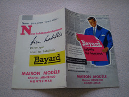 Catalogue Publicitaire Vêtements BAYARD,hommes & Jeunes Maison Modèle Charles Méneroud à Montélimar. 1957 - Publicidad