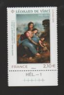 """FRANCE / 2019 / Y&T N° 5355 ** : """"Sainte Anne, Vierge Marie & Jésus"""" (Léonard De Vinci) X 1 BdF Bas Avec N° De Feuille - Neufs"""