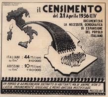PUB 430 - PUBBLICITA CENSIMENTO PER L'ESPANSIONE DEL.. - 1936 - Advertising