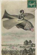 Surrealisme Montage Avion Femme Pilote 1 Er Avril . . April Fool. Envoi à Nappé Manufacture Bains Les B - Other