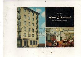 """Frankfurt-am-Main (Allemagne, Hesse) : 2 Blick Von Hotel """"Zum Spessartu"""" Im 1960 GF. - Frankfurt A. Main"""