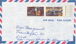 Canada Air Mail Cover Sent To Denmark 1978 Nice Stamped - Aéreo