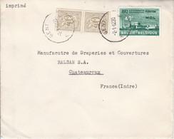 BELGIQUE AFFRANCHISSEMENT COMPOSE SUR LETTRE POUR LA FRANCE 1962 - Belgium