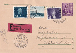 LIECHTENSTEIN 1949   ENTIER POSTAL/GANZSACHE/POSTAL STATIONARY CARTE EXPRES DE SCHAAN - Interi Postali