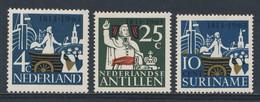 1963 Joint Issue / Gemeinschaftsausgabe : Nederland + Ned. Antillen + Suriname - 150jr 150 Jr Koninkrijk Der Nederlanden - Emissioni Congiunte