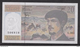 France 20 Francs Debussy - Neuf - 1997 - Fayette 66 Ter - 2 - 20 F 1980-1997 ''Debussy''