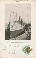 Steamer In Dry Dock Halifax NS  Embossed Coat Of Arms Blason Gaufré. Used Sydney To Osmin Lanusse Le Havre - Halifax
