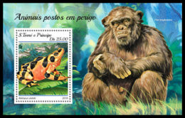 SAO TOME 2018 **MNH SMALL Frog Frosch Grenouille Endangered Species S/S - OFFICIAL ISSUE - DH1844 - Frösche
