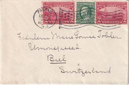 USA 1909 LETTRE DE PASSAIC POUR BIEL - Cartas