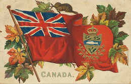 Canada Embossed Coat Of Arms Flag Marmotte To Guanabacoa Cuba Ayala  Tuck - Unclassified