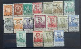 BELGIE   1912   'Pellens'     Nr. 108 - 125        Gestempeld    CW  94,25 - 1912 Pellens