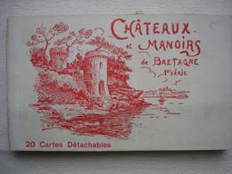 CARNET DES MANOIRS DE CHATEAUX DE BRETAGNE 1ERE SERIE Carnet De 20 Cartes Postales Anciennes - Other