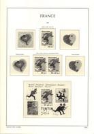 Feuilles LEUCHTTURM FRANCE Avec Pochettes De 2000 à 2002 + Pages Carnets Soit 55 Pages TTB - Fogli Prestampati