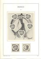 Feuilles LEUCHTTURM FRANCE Avec Pochettes De 2003 Et 2004 + Pages Carnets Soit 47 Pages TTB - Fogli Prestampati