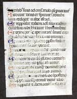 Pagina Da Libro D'Ore Medioevale  - Manoscritta Su Pergamena - 1480 Ca. - Libri, Riviste, Fumetti