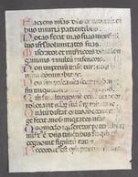 Pagina Manoscritta Su Pergamena Da Libro D'Ore Medioevale - 1480 Ca. - Libri, Riviste, Fumetti