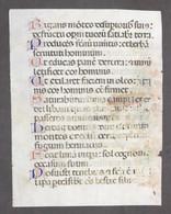 Pagina Manoscritta Su Pergamena Da Libro D'Ore Medioevale - 1440 Ca. - Libri, Riviste, Fumetti