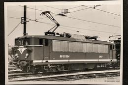 PhotoLocomotive BB 25500 25594 SNCF Juvisy Sur Orge1973 France Train Gare - Eisenbahnen