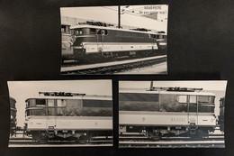 3 Photo PhotosLocomotive BB 9200 9282 SNCF Corail Paris Sud Ouest 1978 France Train - Eisenbahnen