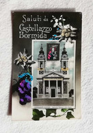 Cartolina Illustrata Saluti Da Castellazzo Bormida - Santuario Madonna Delle Grazie, Viaggiata Per Imola 1955 - Saluti Da.../ Gruss Aus...