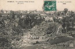 43 Chomelix Vue Générale Et Vallée De L' Arzon Cpa Cachet Rond Perlé Tireté Chomelix 1911 - Andere Gemeenten