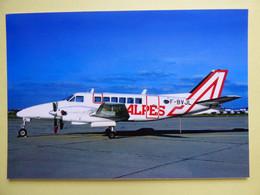 AIR ALPES  BEECH 99  F-BVJL   / Collection Vilain N° 1282  TIRAGE 120 EXEMPLAIRES SEULEMENT - 1946-....: Era Moderna