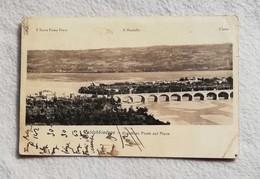 Cartolina Illustrata Valdobbiadene - Grandioso Ponte Sul Piave, Viaggiata Per Treviso 1945 - Otras Ciudades