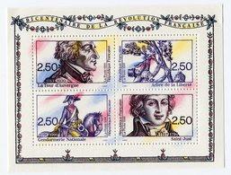 RC 11929 FRANCE BF N° 13 BICENTENAIRE DE LA RÉVOLUTION BLOC FEUILLET NEUF ** A LA FACIALE - Mint/Hinged