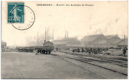 62 ISBERGUES - Entréée Des Aciéries De France - Autres Communes