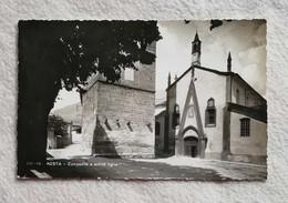 Cartolina Illustrata Aosta - Campanile E Antico Tiglio, Viaggiata Per Imola 1952 - Aosta