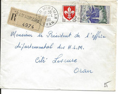 Algérie LR Timbres Français  Oran Miramar 25/04/61 - Algerien (1962-...)