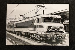 PhotoLocomotive CC 6500 6501 SNCF Mistral Paris Gare De Lyon 1970 Train Gare - Eisenbahnen