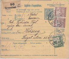 Ungarn/Österreich - 10 F. Ganzsache+Zusatz Paketkarte Városszalónak Köszeg 1918 - Sin Clasificación