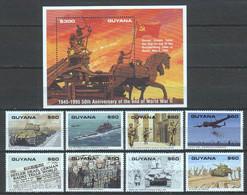 Guyana 1995 Mi 5195-5202 + Block 466 MNH WORLD WAR 2 - Guerre Mondiale (Seconde)