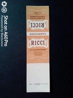 SCATOLA X FIAMMIFERI - MINERVA SAFFA ANNI 50-60 PUBBLICITÀ PASTICCERIA, CONFETTERIA L.RICCI, MILANO - Matchboxes