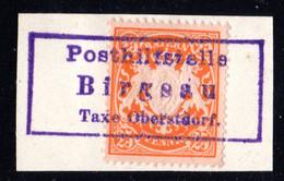 Bayern, 25 Pf. Auf Briefstück M. R3 Posthilfstelle BIRGSAU Taxe Oberstdorf - Bayern (Baviera)
