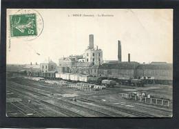 CPA - NESLE - La Distillerie - Trains - Nesle