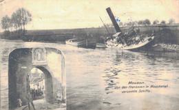 08 - MOUZON / CARTE POSTALE ALLEMANDE - PENICHES SUR LE CANAL - Andere Gemeenten