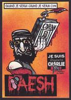 CPM Islam Tirage Limité 30 Ex Numérotés Signés Non Circulé Je Suis Charlie Satirique Caricature - Islam