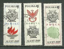 POLAND Oblitéré 1778-1780 Union Des éclaireurs Croix Flamme Aigle Militaire Carte - Used Stamps